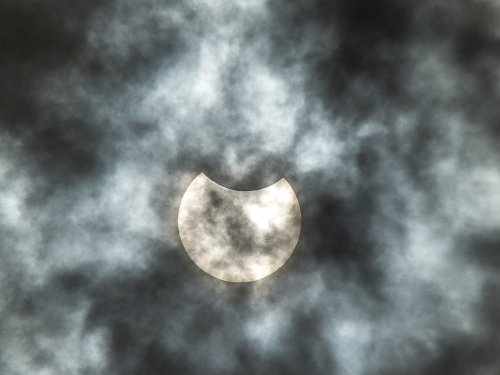 Частичное солнечное затмение. 10.06.2021.