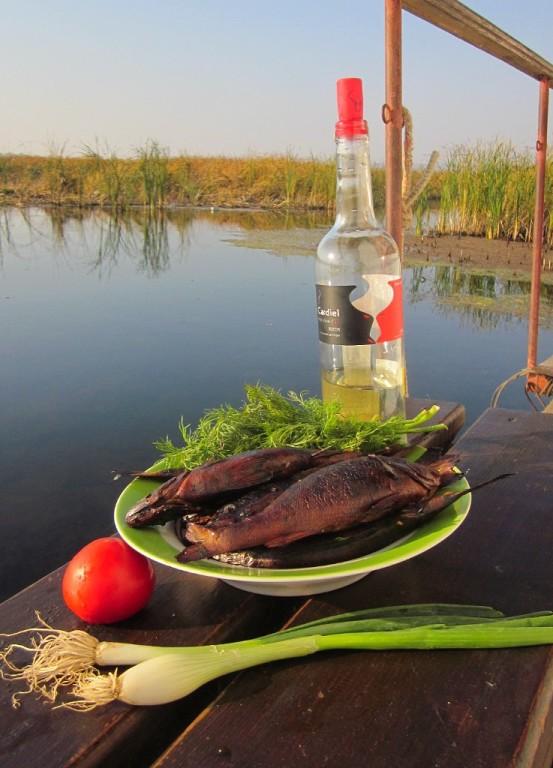 Скромный ужин рыбака...