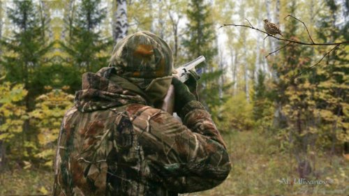 Осенняя охота на рябчика. Моя первая охота с манком!